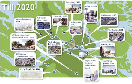 Stockholms stads expolateringskontor hanterar omkring 400 projekt årligen. Antalet projekt ökar successivt genom behovet att ta hand om alla de människor som söker sig till staden. Illustration: Stockholms stad