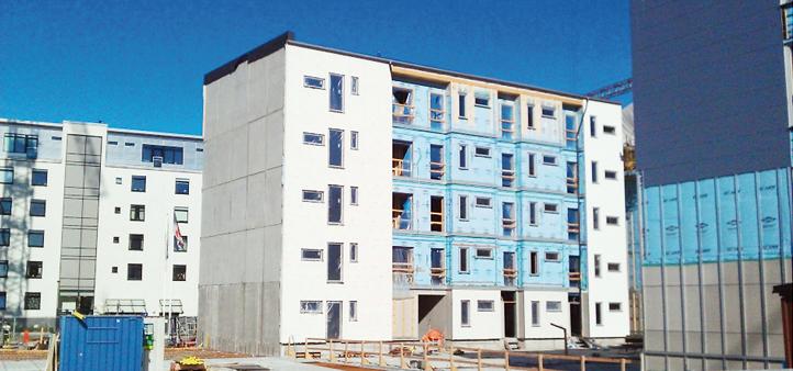 Ett av flerbostadshusen som var med i AkuLites undersökning.