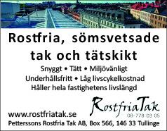 Rostfria tak