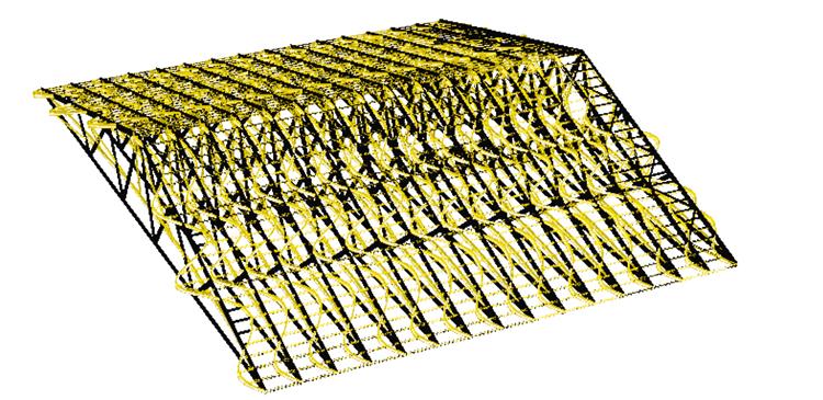 parallellfackverk takkonstruktion