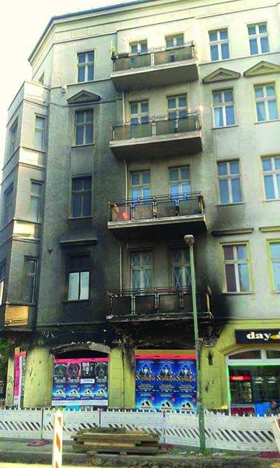Brandskydd i fasad med balkongplatta