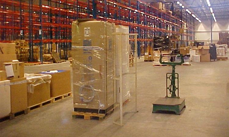 Exempel på industrigolv i en lagerbyggnad. Foto: J. Hedebratt.