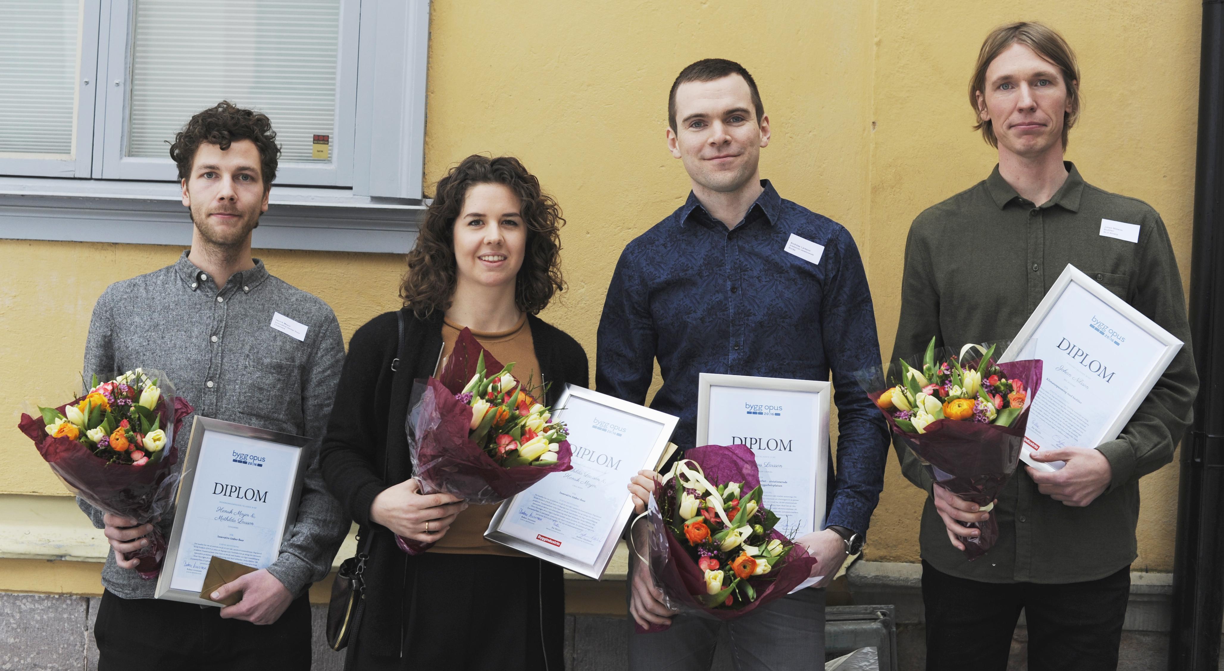 Byggopus – Årets pristagare för bästa examensarbete.