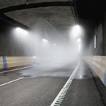 Brandbekämpningssystem i vägtunnlar