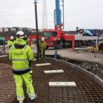 Temperatur- och hållfasthetsutveckling hos betong med Anläggningscement FA