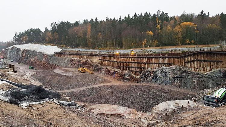 Hjulsta norra vägprojekt Stockholm