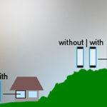 Klar sikt med isolerglas utan optisk distorsion