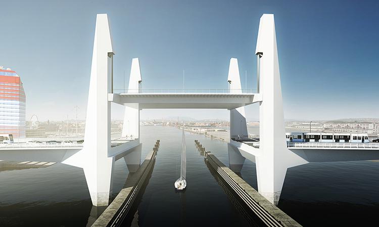 Hisingsbron. Lika mycket maskin som bro