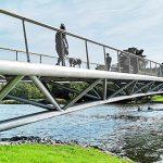 Folke Bernadottes bro. Tillverkning och montage: Stål & Rörmontage.