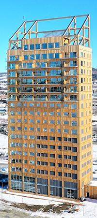 Mjöstornet i Brummundal, Norge.