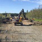 Fältmätning av träpålad E4-ombyggnation